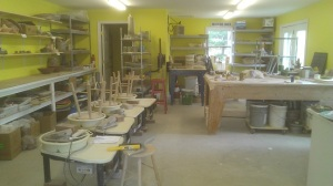 Reworking the studio space at Hallowell Clay Works