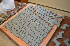 Our tessellating design in progress