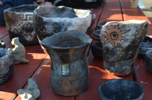 Our pit fired Pots done in English and Social Studies classes while we researched Native American cultures