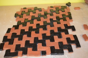 another variation of tessellating tiles and shifting patterns