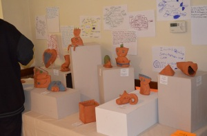 Our sculpture Art show with mind maps and Artist statements