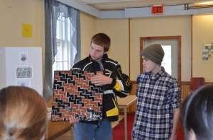 Students presenting their tile project 2013