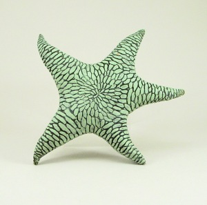 Sea Star made with locally sourced clay once fired to Cone 04 electric- Terra sigillatta and stains